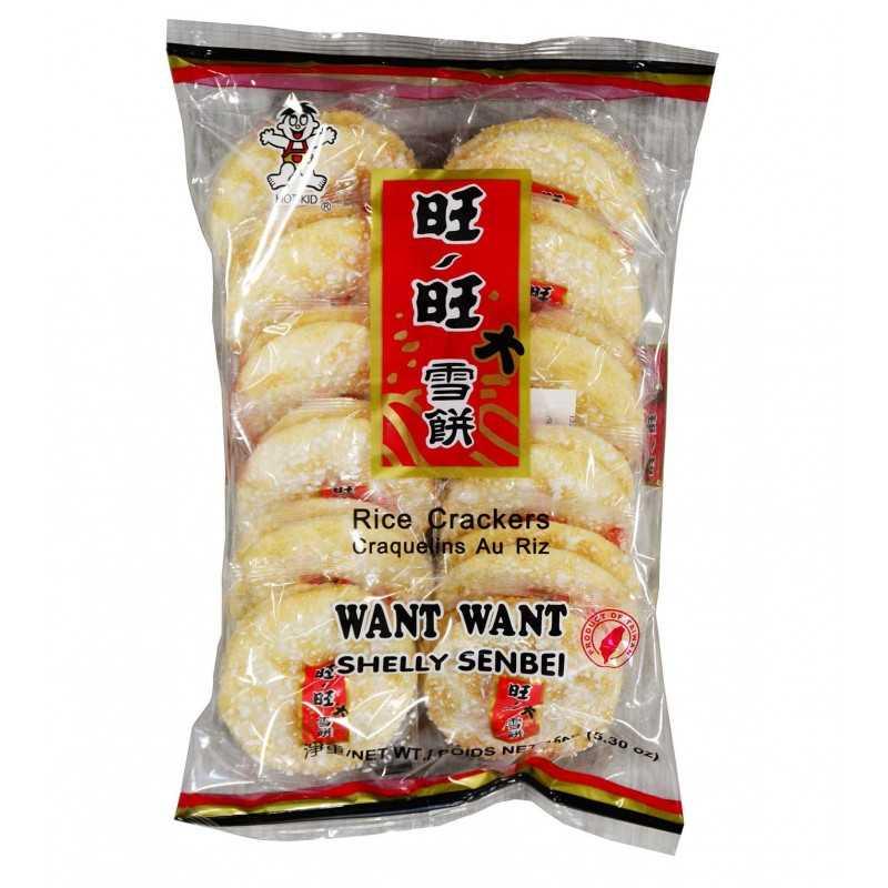 Craquelin de riz sucré - salée Want Want 150g