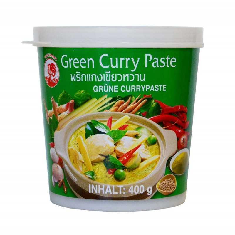 Pâte de curry vert - Cock brand 400g