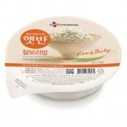 Riz blanc et Orge en bol, prêt à manger - 210g
