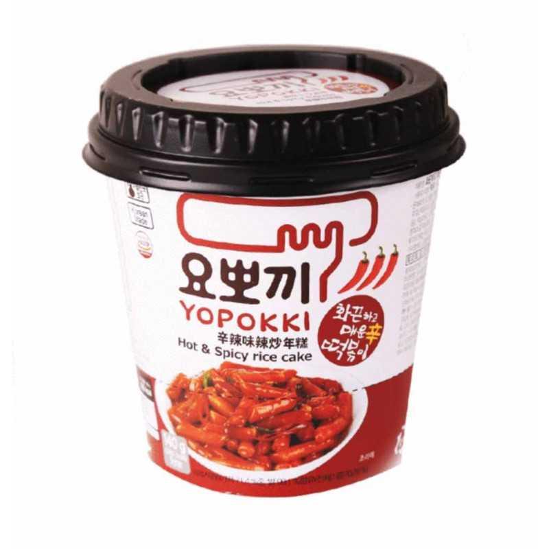 Yopokki Extra Hot : Tteokbokki instantanés très piquant - 120g