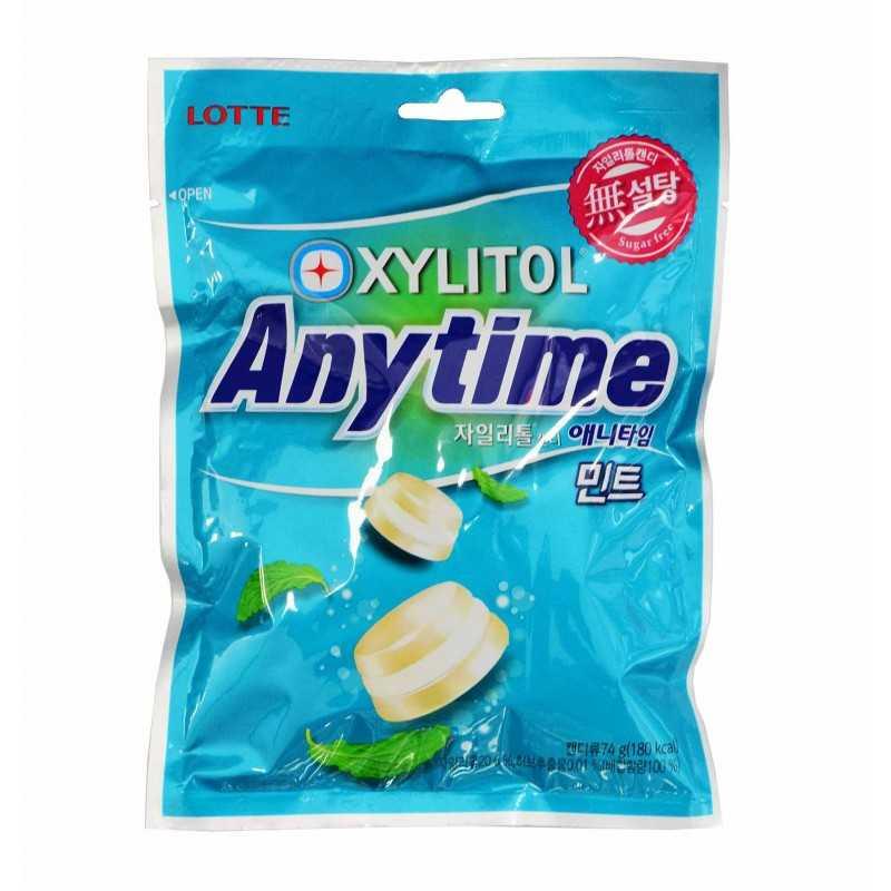 Bonbons anytime lait et menthe - lotte 74g