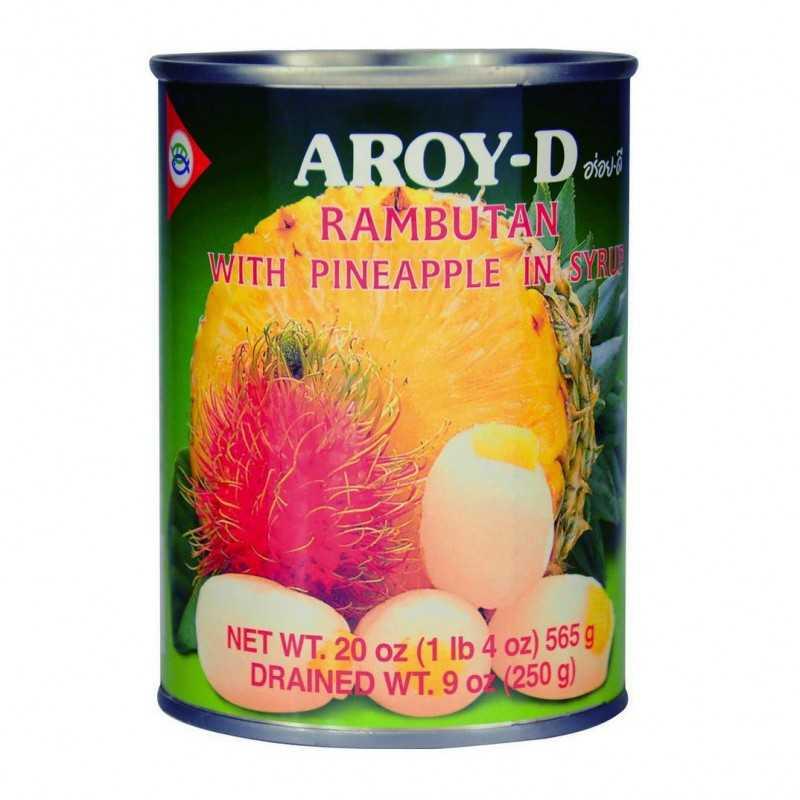 Rambutan et ananas au sirop - Aroy-D -565