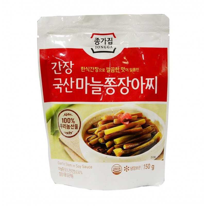 Tiges d'ail saumurées à la sauce soja - Jongga 150g