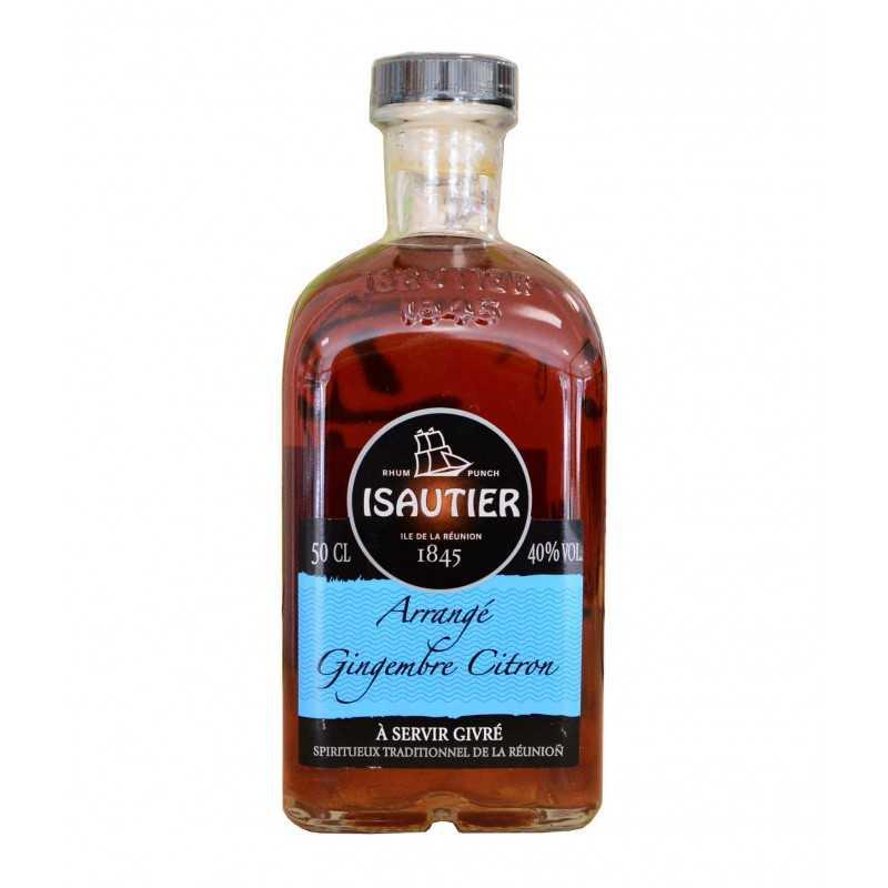 Rhum Arrangé saveur gingembre citron - Isautier 50cl