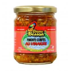 Piment confit au vinaigre - Dame Besson 200g
