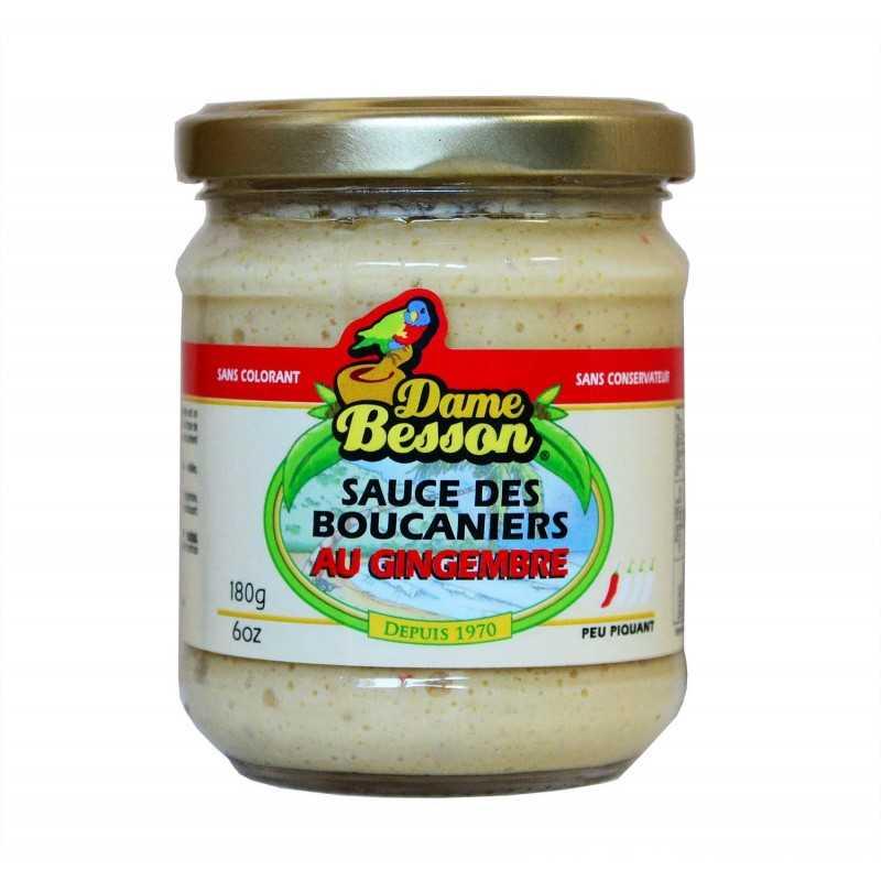 Sauce des boucaniers au gingembre - Dame Besson 180g