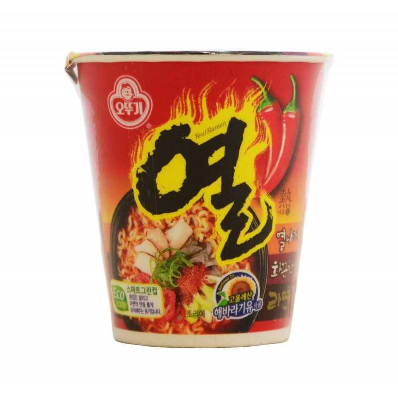 YEUL RAMEN Cup: Nouilles épicées au boeuf - OTTOGI 62 g