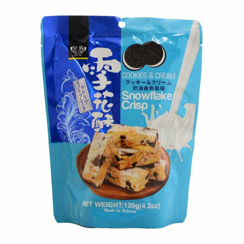 Snowflakes Crisp Cookies and Cream - Taiwan Dessert - 120g