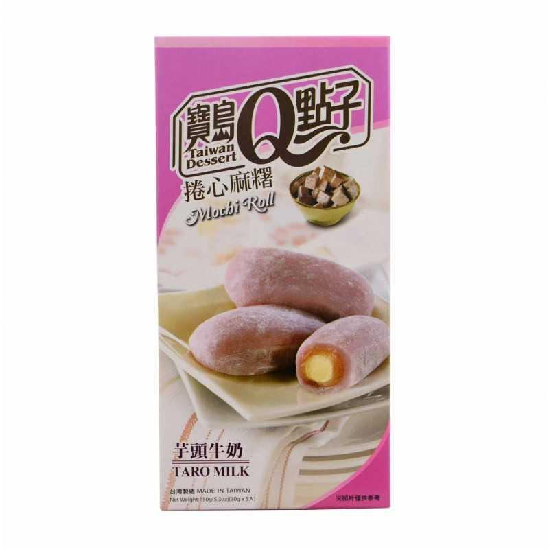 Mochis roulé au Taro et au lait - 150g - 5 pièces