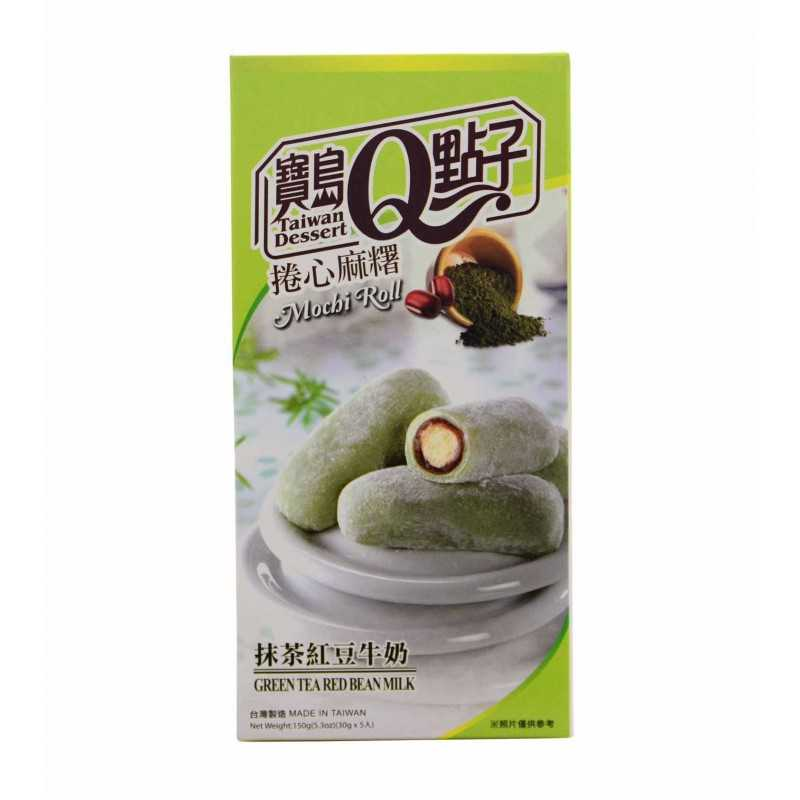 Mochis roulé thé vert, Azuki et au lait - 150g - 5 pièces