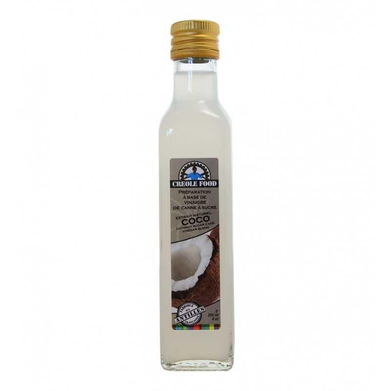 Vinaigre de canne à sucre arôme coco - creole food 250ml