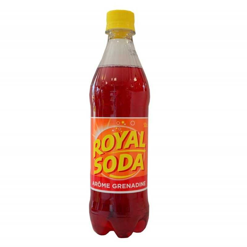 Limonades Royal soda Grenadine 50 cl