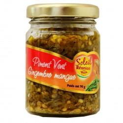 Pâte de piment vert gingembre mangue - Soleil Réunion 90 g