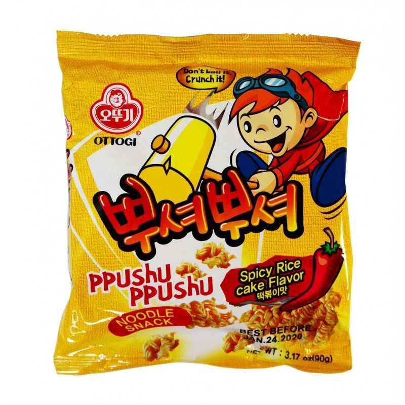 Phushu-Ppushu: ramen snack saveur Tteokbokki - Ottogi 90g