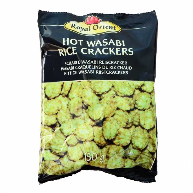 Hot Wasabi Crackers - Craquelins de Riz au Wasabi 150g