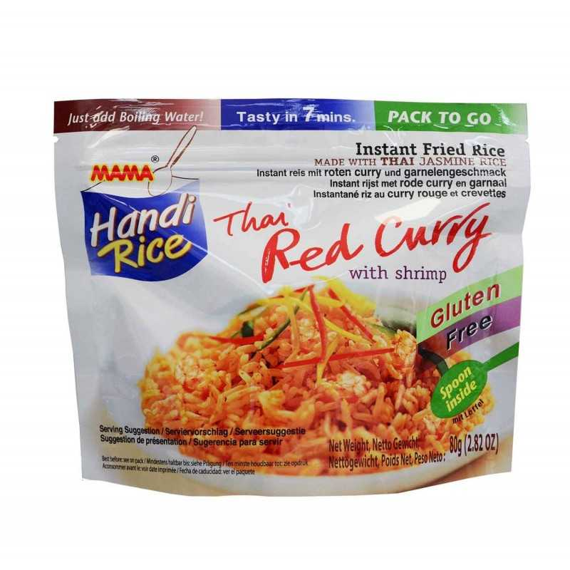 Riz Instantanée au Curry rouge et crevettes