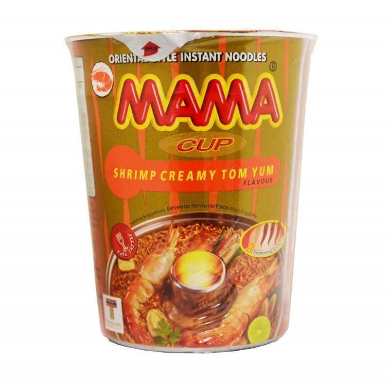 Blé tendre instantané style oriental saveur Crevette Tom Yum Crémeux - MAMA - 70g