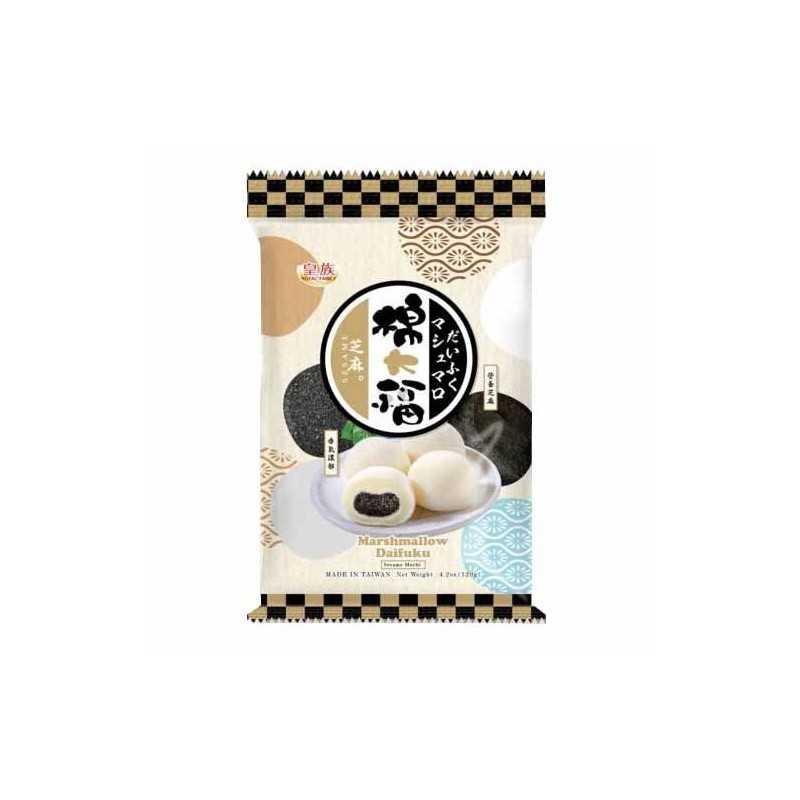 Marshmallow Daifuku Mochi Sesame - Royal Family 120g