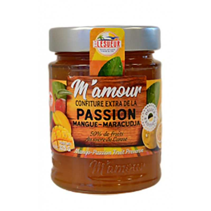 Confiture mangue - Maracudja - M'amour 325g