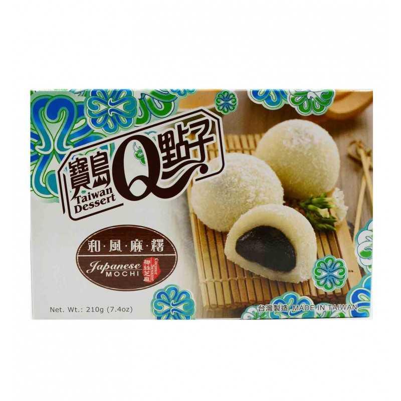 Mochis au sésame noir et flocons de Noix de coco VEGAN/HALAL - Taiwan Dessert - 210g