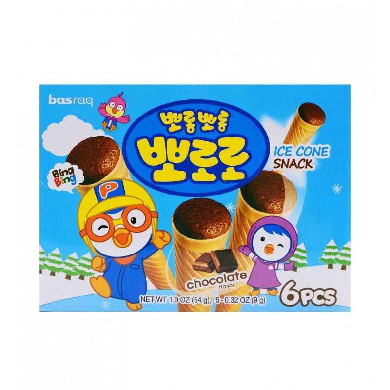 Pororo Ice Cone Snack Goût Chocolat - Basraq 54g