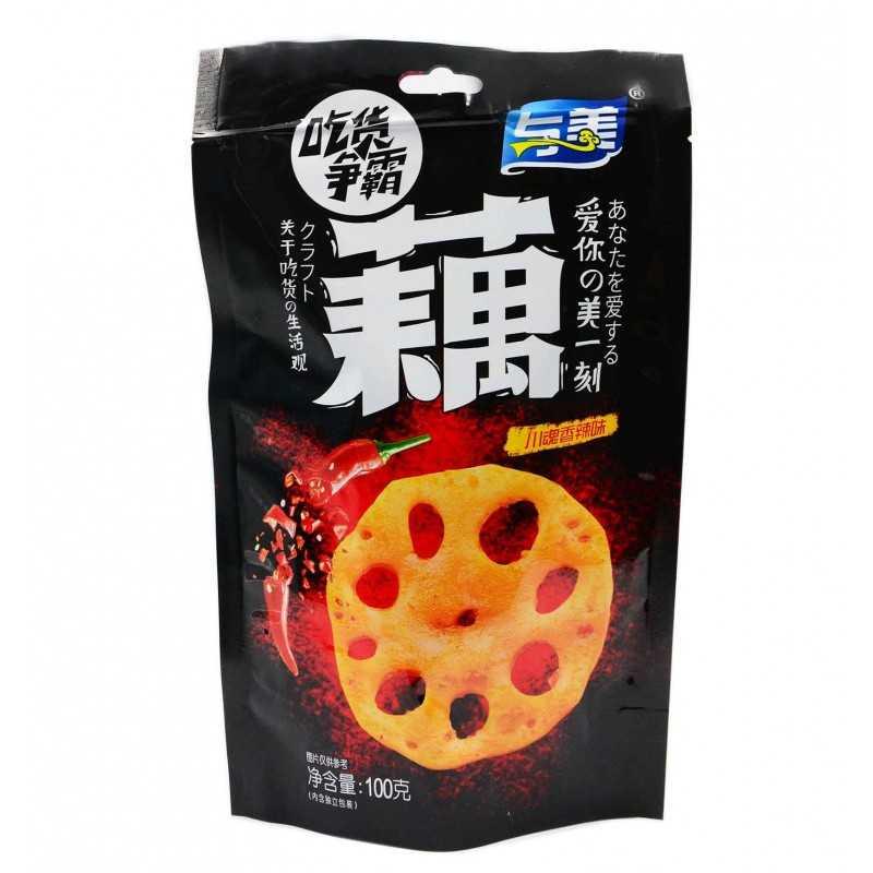 Racines de Lotus Croustillantes - Épicées - Yumei 100 g