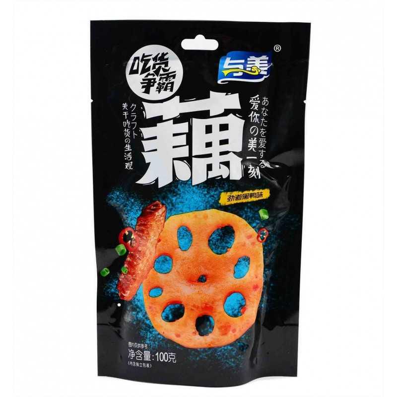 Racines de Lotus Croustillantes - Saveur Canard - Yumei 100 g