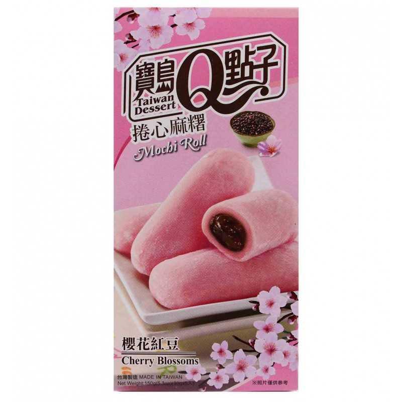 Mochis Roulé aux fleurs de cerisier et haricots rouges - Taiwan Dessert 150g