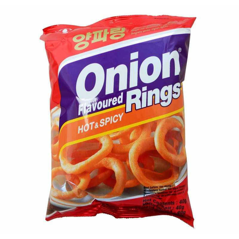 HOT ONION RINGS - Oignons frits piquant - NONGSHIM - 40g