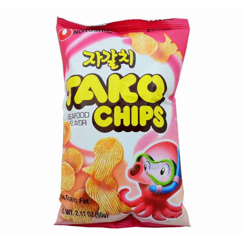 TAKO CHIPS - Chips Saveur Fruit de Mer - 60g