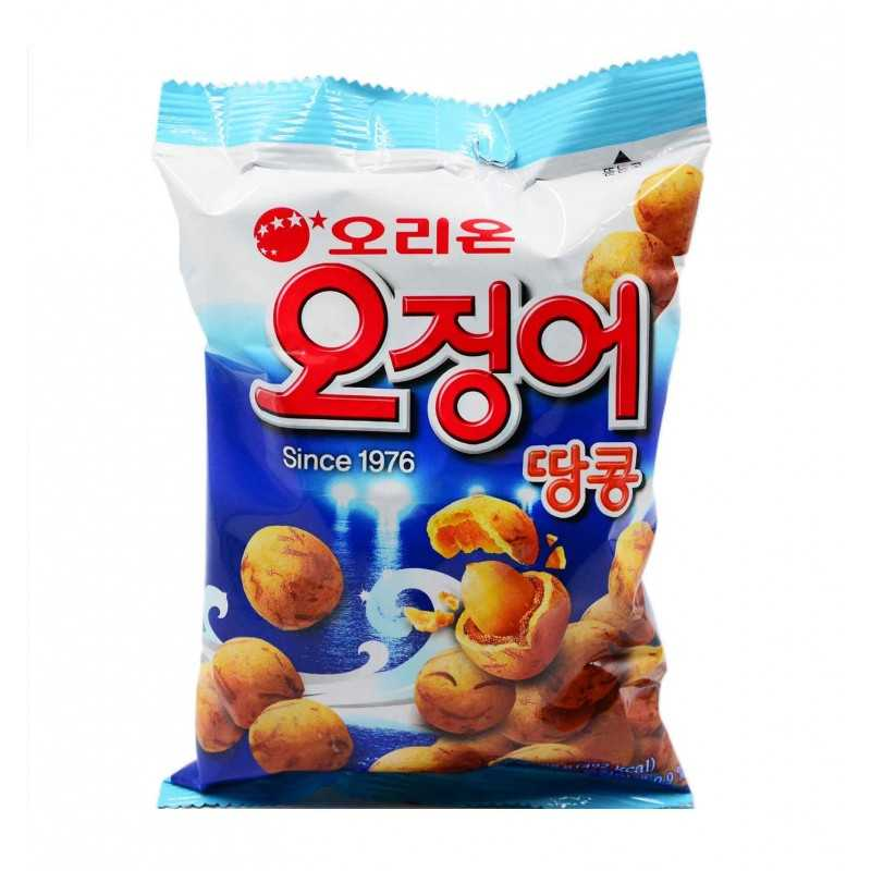 Crackers Poulpe/Cacahuète - Cuttlefish and peanut snack - Orion - 30g