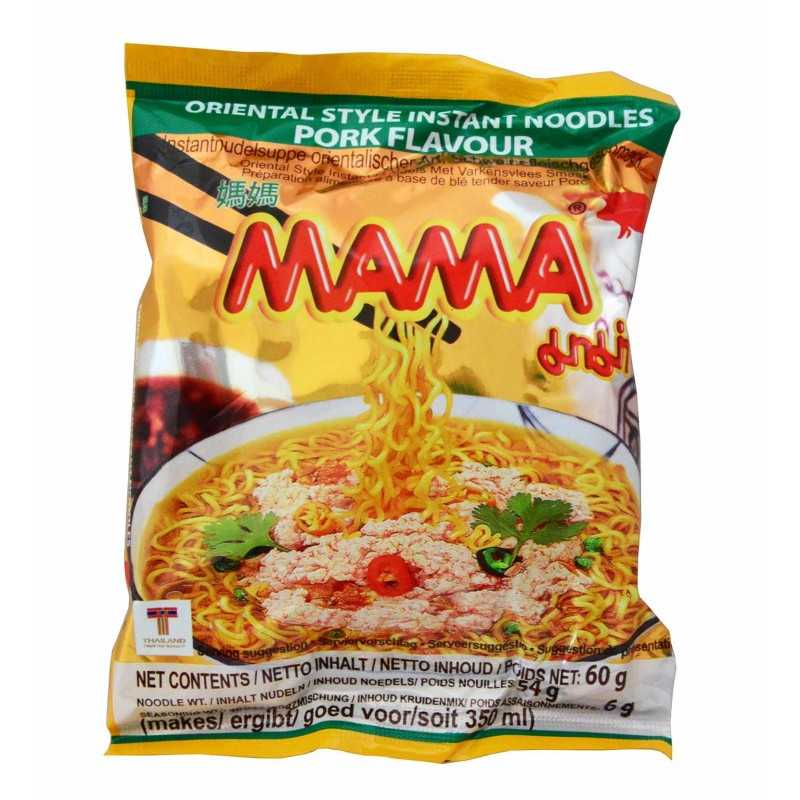 Nouilles saveur porc - MAMA - 60 g