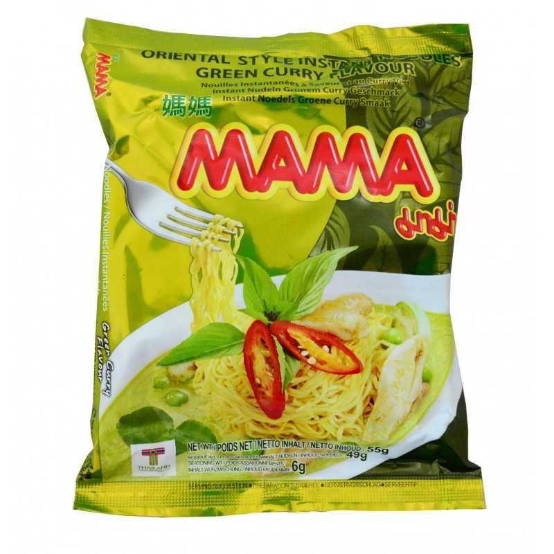 Nouilles goût Curry vert - MAMA - 55g