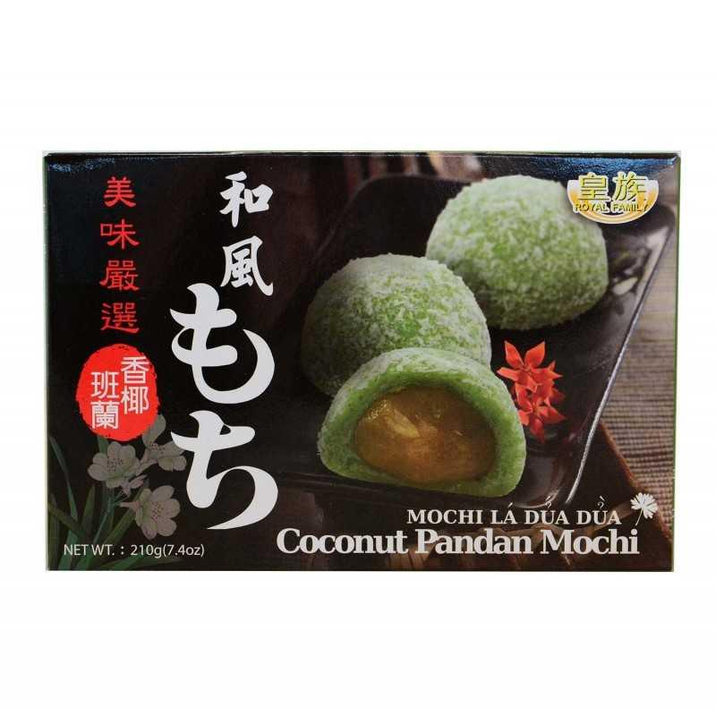 Mochis au pandan et noix de coco