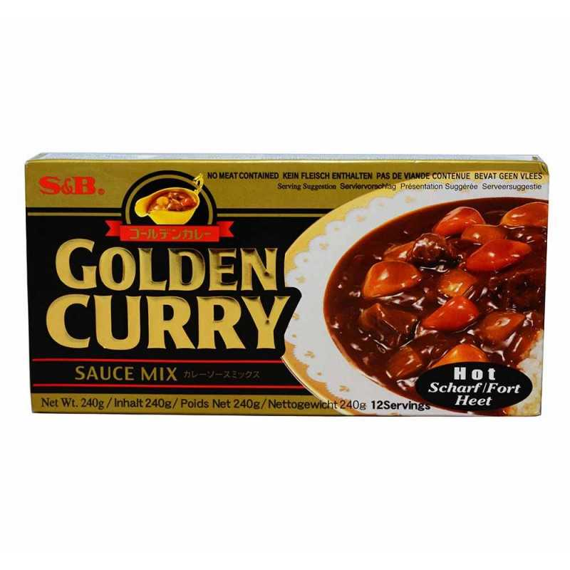 Golden Curry Hot - S&B - 240g (12 portions)