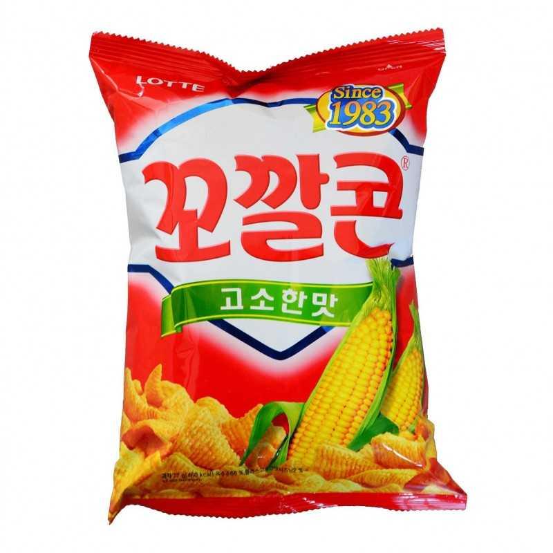 Lotte Corn Snack - Chips de Maïs - 77g