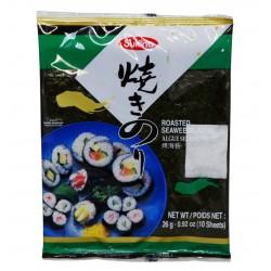 Feuilles de NOKI (KIM) pour Maki, sushi - 10 feuilles