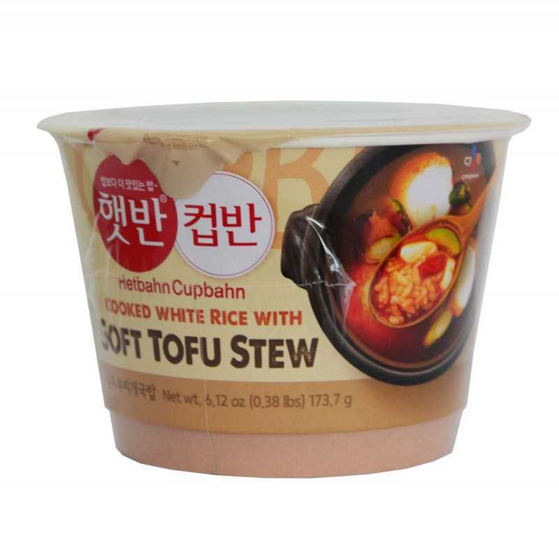Riz et soupe de Tofu épicée Sundubu jjigae - 165g