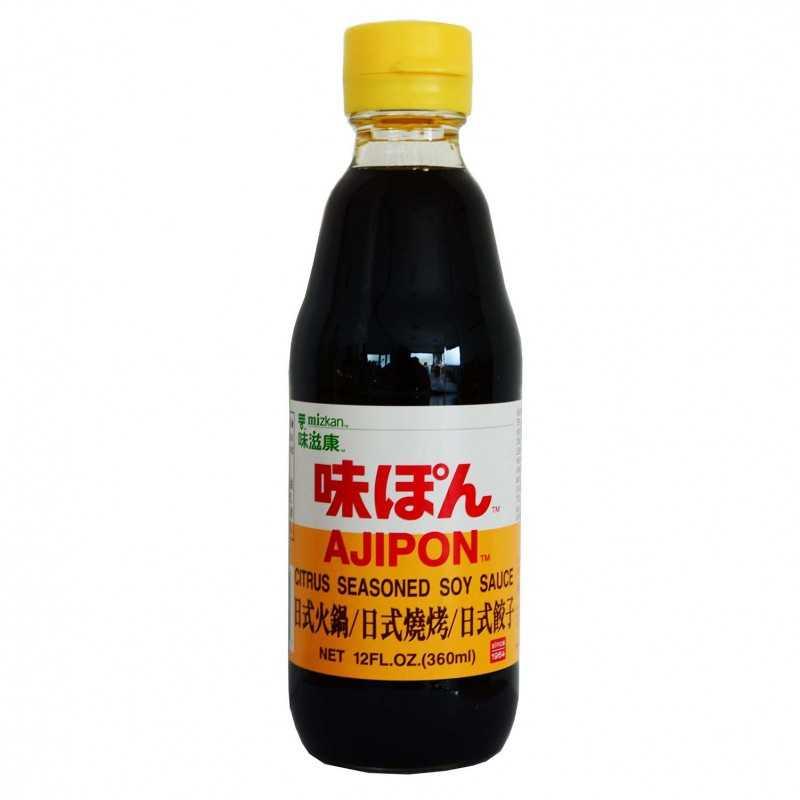 Ajipon - Sauce soja au yuzu - Mizkan 360 ml