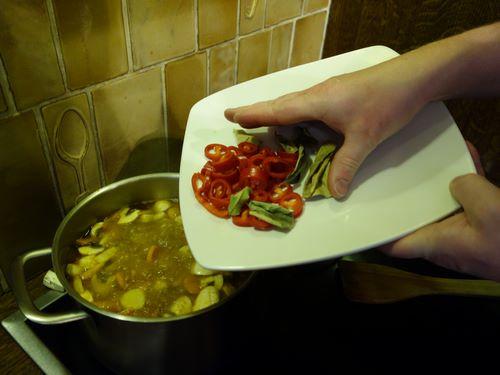 Ajoutez les piments