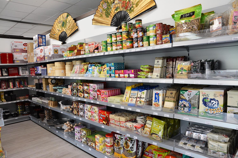 conserves, algues , pâtes et ustensiles de cuisine