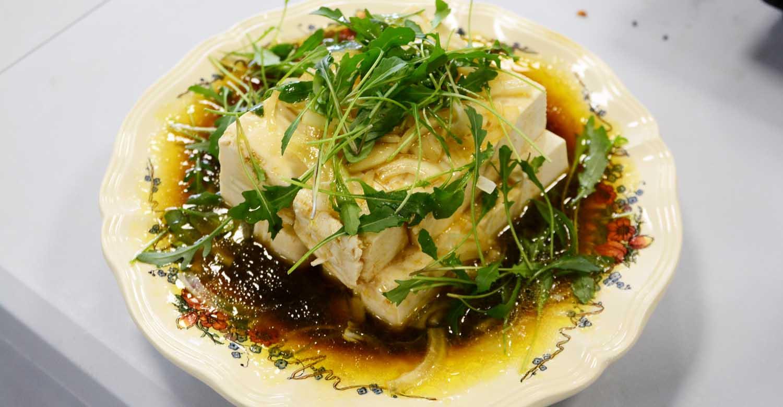 연두부 야채 샐러드