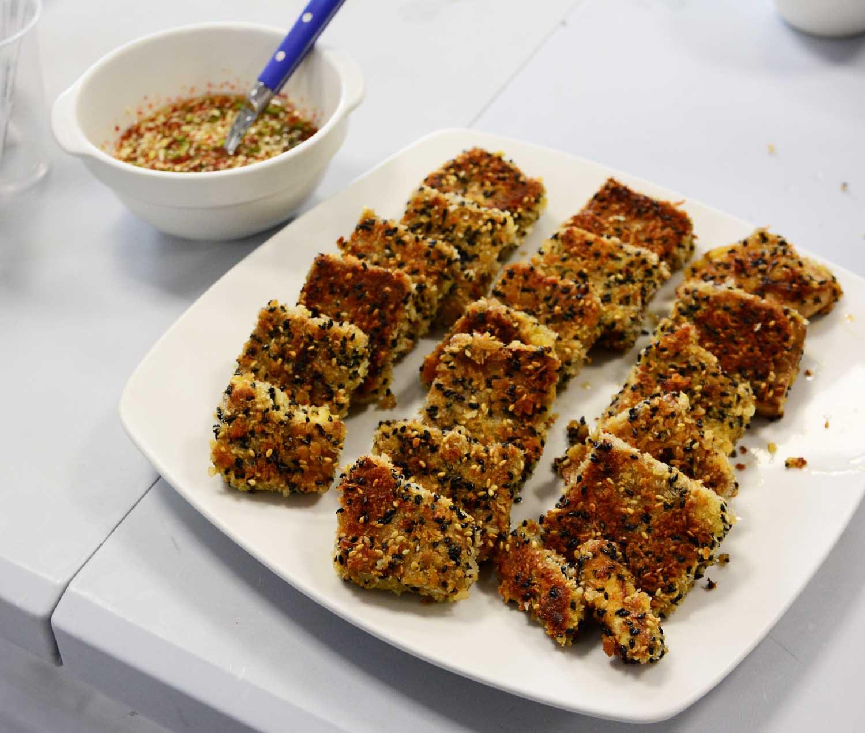 Tofu croustillant au panko et au sésame
