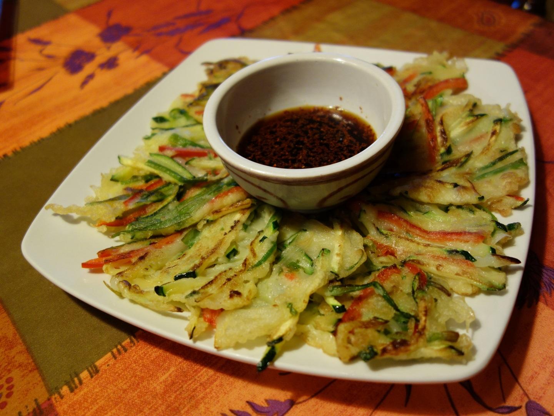 Yachaejeon - crêpe coréenne au légumes